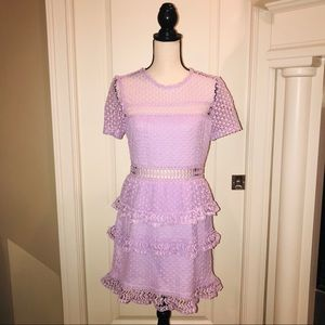 Lavender lace dress-sheer top